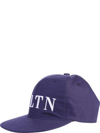 Valentino Garavani Blue Branded Baseball Hat