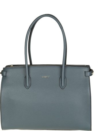 """Furla """"pin M"""" Shopping In Blue Leather"""