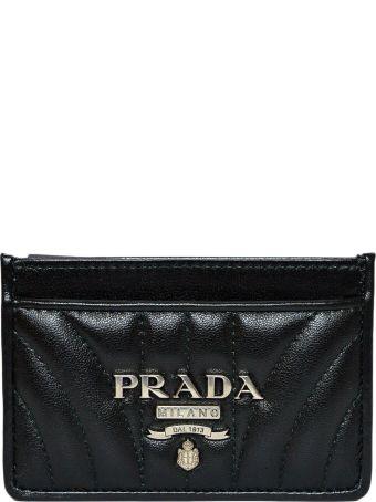 Prada Metallic Logo Card Case