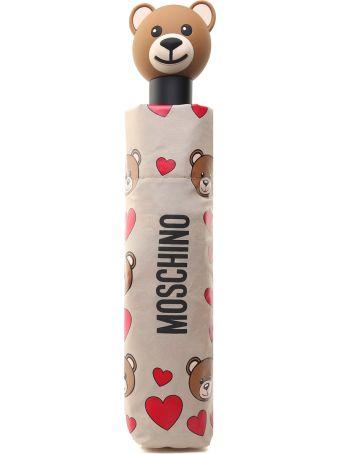 Moschino Ombrello Teddy Hearth In Nylon