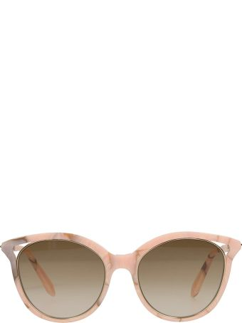 Victoria Beckham Cut Away Kitten Pink Sunglasses