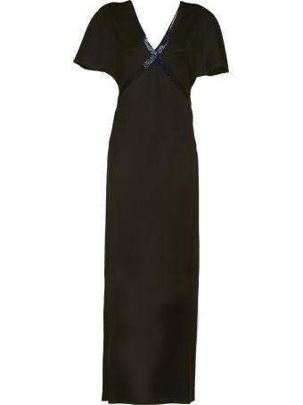 Lanvin Long V-neck Dress