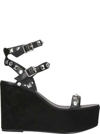 Ash Touch Sandal In Black Leather