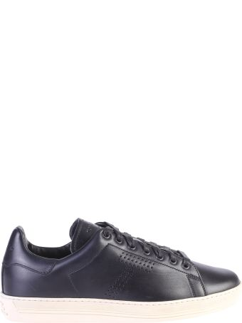 Tom Ford Blue Perforated Sneakers