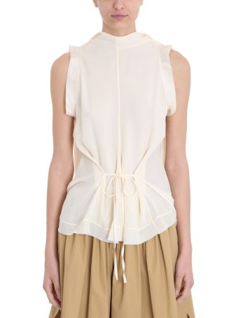 Chloé Cream Silk Top