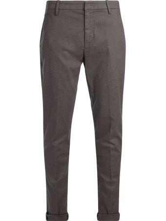 Dondup Gaubert Mud Trousers With Black Micro Pattern