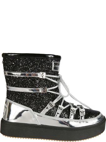 Chiara Ferragni Metallic Snow Boots