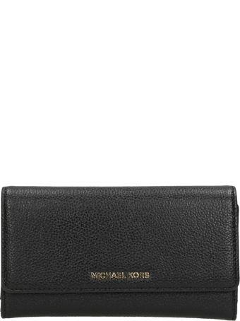 Michael Kors Black Grained Leather Wallet