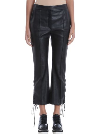 Stella McCartney Flared Cropped Faux-leather