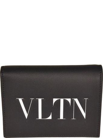 Valentino Vltn Print French Wallet