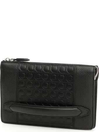 Salvatore Ferragamo Firenze Leather Clutch