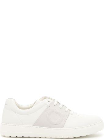 Salvatore Ferragamo Calfskin And Nabuck Sneakers
