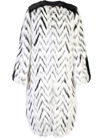 Givenchy Black And White Chevron Coat