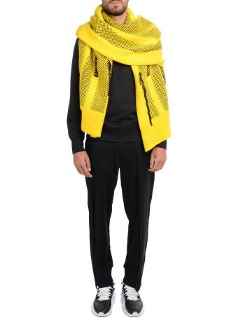 Y-3 Black And Yellow Scarf