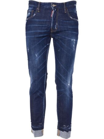 Dsquared2 Distressed Roll-up Jeans