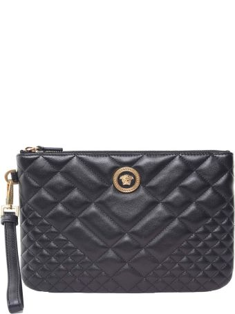 Versace Icon Quilted-leather Clutch