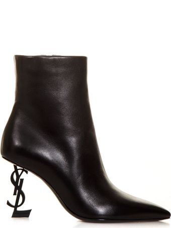Saint Laurent Black Iconic Boots In Leather
