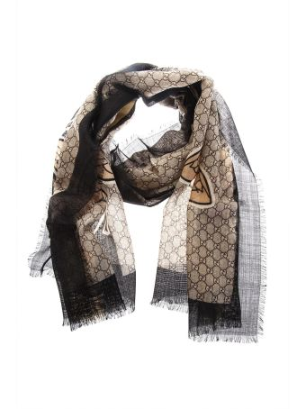 Gucci Iconic Bee Print Wool Stole