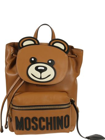 Moschino Logo Patch Backpack