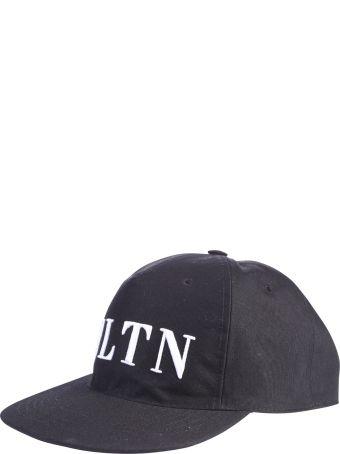 Valentino Garavani Black Branded Baseball Hat