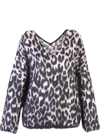 Stella McCartney Multicolored Leopard Print Sweater