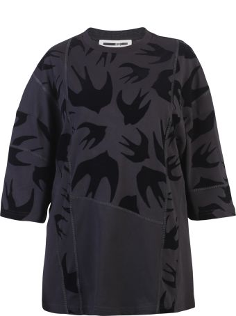 McQ Alexander McQueen Black Swallows Print T-shirt