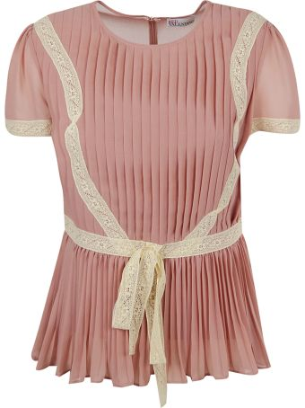 Red Valentino Pleated Top