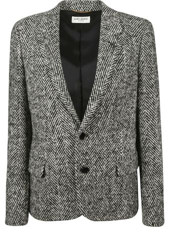 Saint Laurent Herringbone Blazer