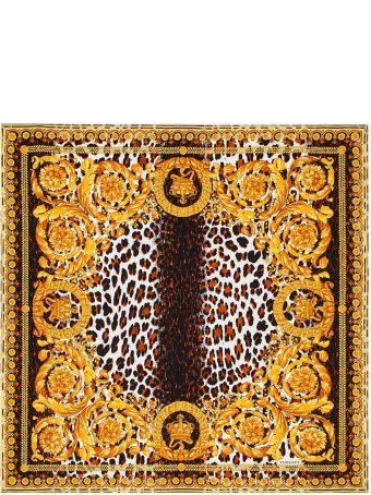 Versace Wild Baroque-print Silk-twill Scarf