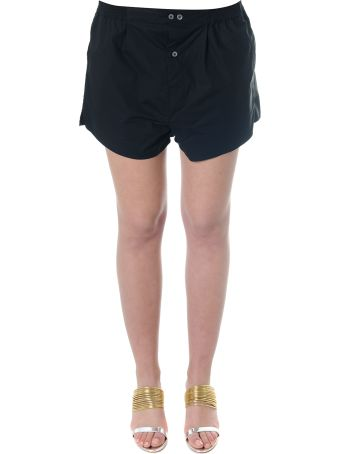 Faith Connexion Black Cotton Shorts