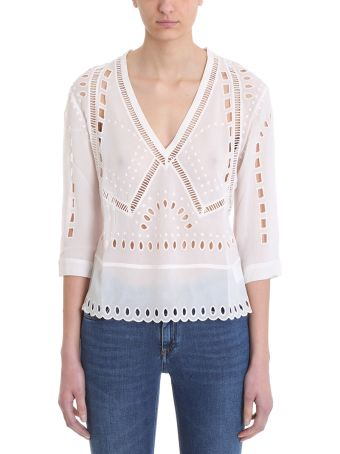 IRO Polita V-neck Embroidered Blouse