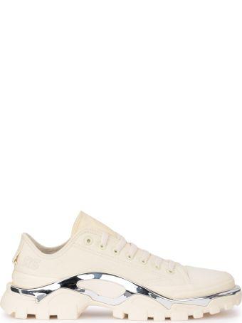 Raf Simons Adidas By Raf Simons Detroit Runner Ivory Canvas Sneaker