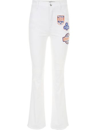 Dolce & Gabbana Flare Jeans With Princess Patch