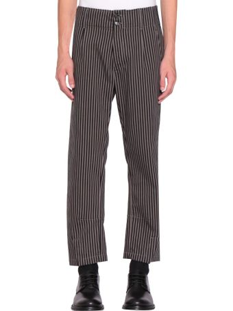 Ann Demeulemeester Black And Beige Buckley Trousers