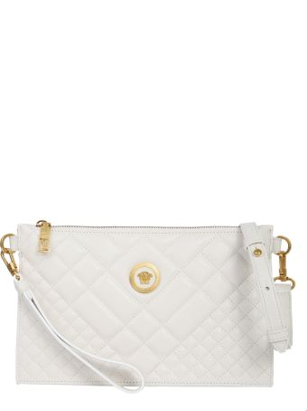 Versace Small Leather Medusa Clutch