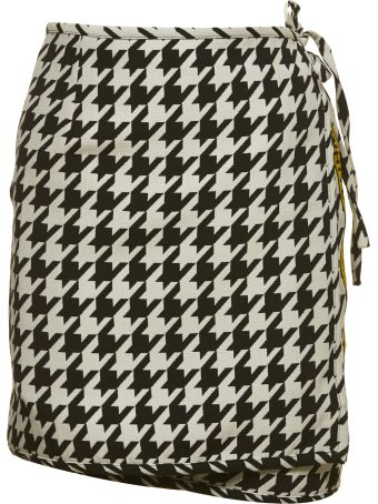 Off-white Houndstooth Mini Skirt