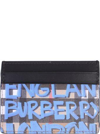 Burberry Multicolored Graffiti Card Holder