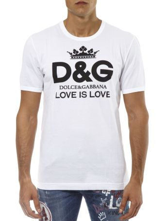 Dolce & Gabbana White Cotton T-shirt With Logo