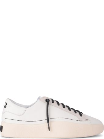 Y-3 Tangutsu Lace White Leather And Suede Sneaker
