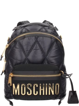 Moschino Maxi Logo Patch Detailed Nylon Backpack