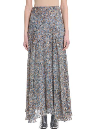 Isabel Marant Ferone Floral Silk Blend Skirt