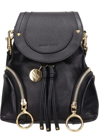See by Chloé Olga Small Black Leather Backpack