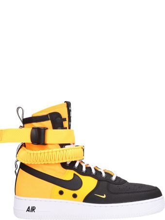 Nike Special Field Air Force 1 Black/orange Technical Fabric Sneakers