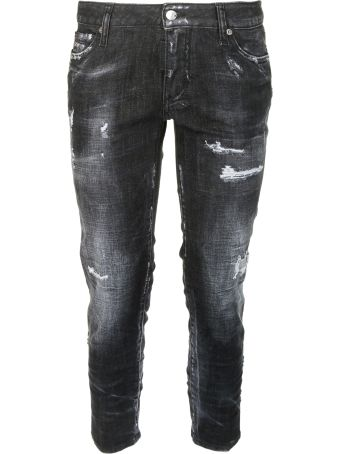 Dsquared2 D-squared2 Cropped Distressed Jeans