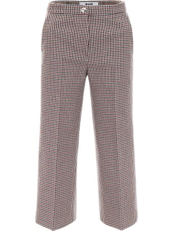 Cropped Houndstooth Trousers