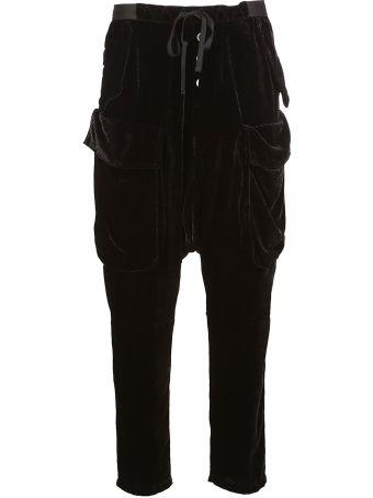 Ben Taverniti Unravel Project Velvet Drop-crotch Trousers