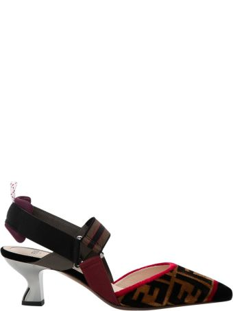 Fendi Multicolour Fabric Slingbacks