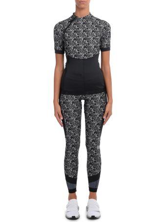 Stella McCartney Adidas By Stella Mccartney Black And White Floral Fabric Tight