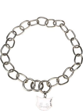 Miu Miu Chain Neckleace Cat