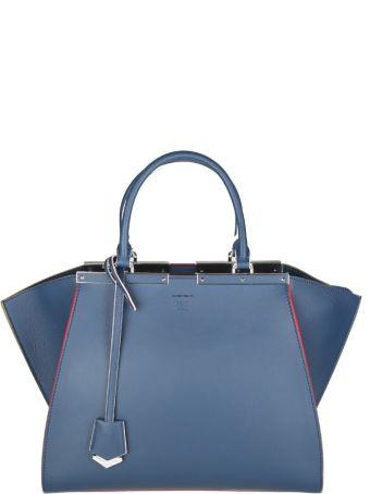 Fendi 3jour Shopping In Skin Color Blue